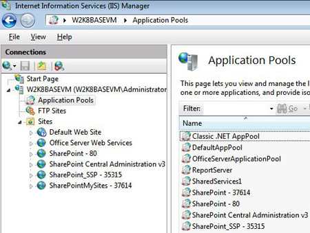 SharePoint Server 2007 on IIS7