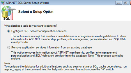 SQL Server Setup Wizard