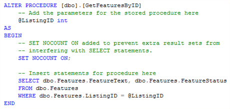 CheckBoxList Stored Procedure